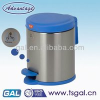 foot pedal waste round bin house container