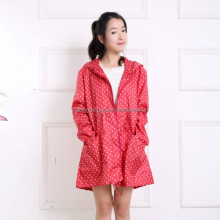 new style fashion full spot rain coats for woman