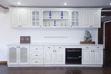 Solid wood kitchen cupboard with good design and high quality