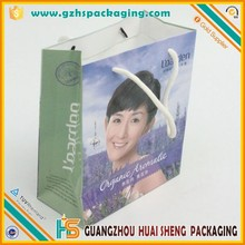 Cheap Small Size Flat Handle Paper Grocery Bags With Logo Printing Wholesale
