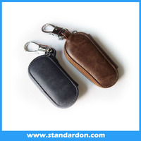 Customized Real Leather Car Logo Key Cover Case universally good quality