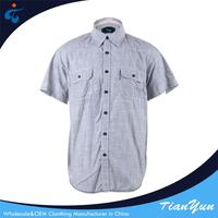 Oem service Wholesale fashion slub 100% cotton uniform shirt