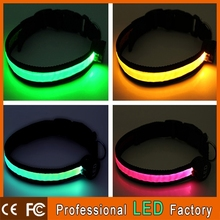 retractable pet trainer collar with led lights for dog