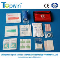TOPWIN first aid mini bag 61121, wound dressing with cold pack for family first aid