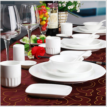 Haonai hot sale high quality porcelain dish for restaurant hotel