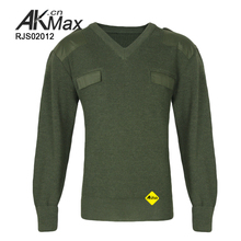 men's army wool acrylic pullover military sweater