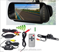 7 inches Dual camera car rear view mirror DVR with bluetooth GPS WIFI