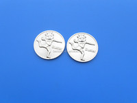 custom engraved logo silver coin