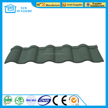 new building material double roman type solar roofing shingle stone coated steel sheet