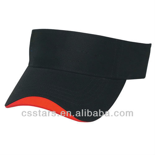 black with red or white Wave Sandwich Visor