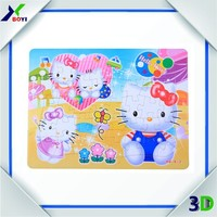 Intelligent develop small children toy 10000pcs A4 customized paper jigsaw puzzle