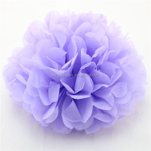 Romantic Lavender Pom Poms Flower Wedding Party Hanging Tissue Paper Flowers