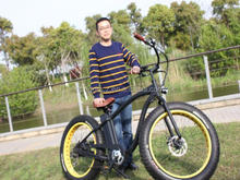 2017 new model High power High Speed E-Bike, 26''*4.5 Inch Fat Tyre F/R Disc Brake Mountain Electric Bike for sale