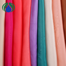 newest smooth colorful polyester bulk chiffon fabric price of cheap curtain