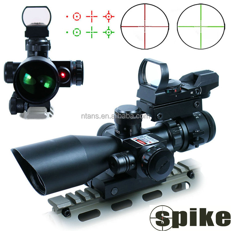 Spike 2.5-10x40R+HD 101 Dual Illuminated Scope with Sunshade for AK47 and Hunting Use
