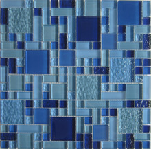 Popular style glass mosaic for swimming pool tile