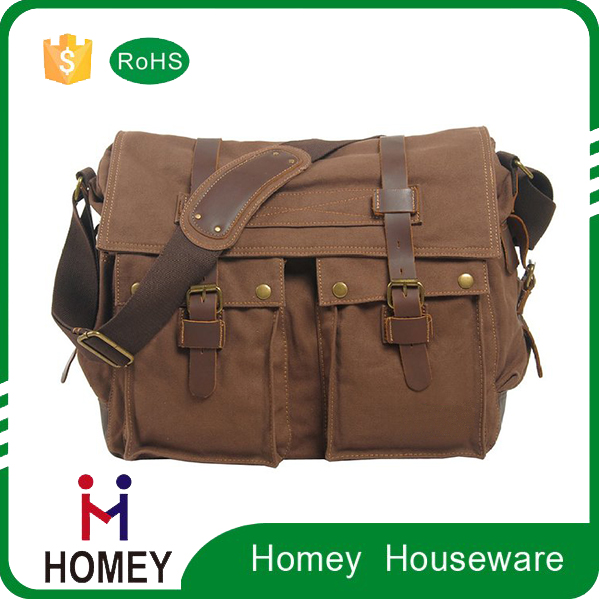 "For 13.3-17""Laptop Vintage Military Men Canvas Messenger Bag"