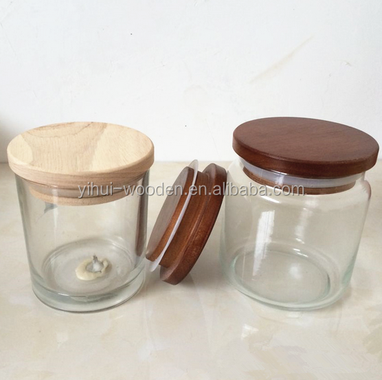 new arrival wood lid for candle jar/wood lid for glass jar