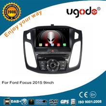 ugode android 4.4 single din 9 inch car audio for ford focus 2015 car gps navigation