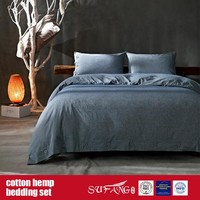 Cotton Hemp Bedding Set for Home Luxury Hotel Use