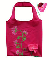 Fashion flower design hs codes nylon bag