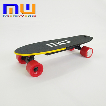 Wholesale 12mph 23inch maple electric remote control skateboard for kids