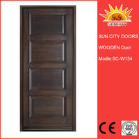 Interior entry door used fancy wood door designs villa SC-W134
