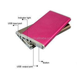 Slim led multi cell phone portable power bank supply for huawei