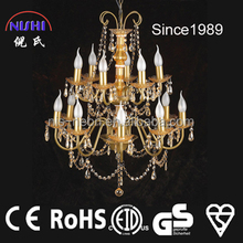 2014 contemporary gold crystal chandelier pendant light/lamp (NS-120037)