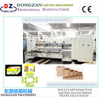 Full-automatic high speed corrugated paperboard flexo printing machine/paper carton box making machine from China manufacturer