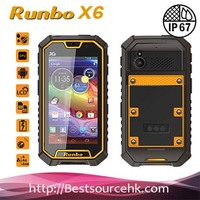 2013 New Listing Manufacturer Military Standard Runbo X6 IP67 Rugged 3G Smart Phone with Quad Core Android 4.2 walkie talkie PTT