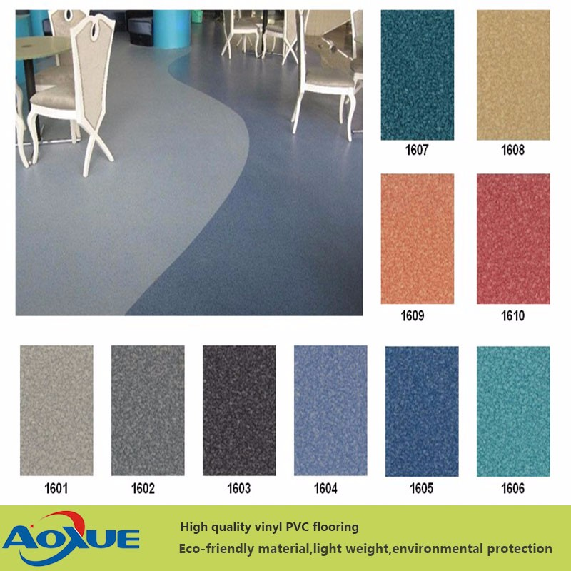 Commerical Durable and Seamless Rolled PVC Vinyl Flooring