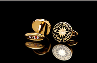 The zodiac crystal copper-plated square mens suit shirt cufflinks French classic decorative/ gifts wholesale cufflink
