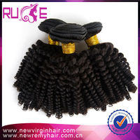 3Pcs/lot 12inch same Length remy virgin hair weaving nubian twist Afro Kinky Curly Brazilian hair free shipping