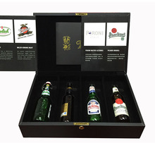 China manufactory custom made leather beer bottle crates for sale
