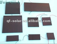 solar cell with soldering wire