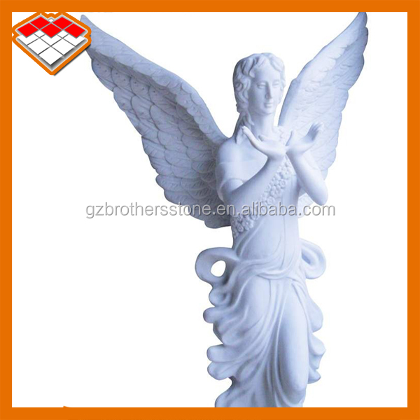 life size stone angel statue white marble stone sculpture