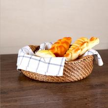 2017 Wholesale Stylish Plastic Rattan Storage Basket for Bread