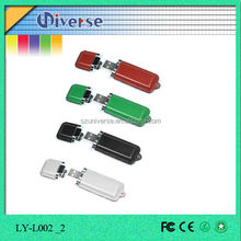 Most popular hote sale delicate leather 500mb usb flash drive