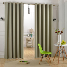 New Style Grommet Thermal Insulated Blackout Polyester Fabric Curtain