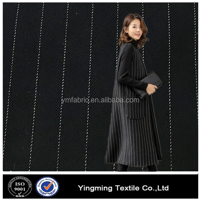 Fashion stripe twill semi formal tr suiting fabric