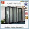 Tempered clear glass foshan HLC factory sale cheap folding doors