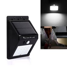 Wall Mounted Motion Sensor Outdoor Waterproof 16 Led Solar Lights