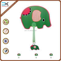 Elephant printing cartoon handle held fan ready stock for wholesale