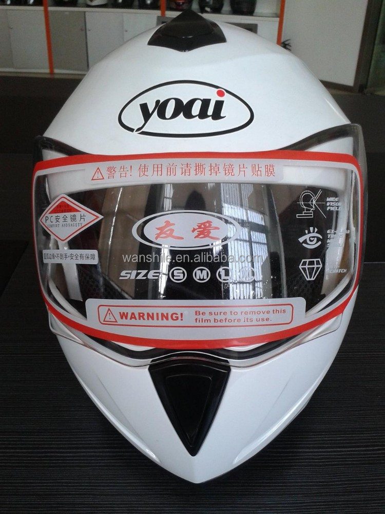 motorcycle NEW ABS plastic flip up helmet with double visor