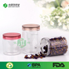 clear plastic pet round cylinder tin box container with plastic lid