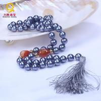 New design good looking shell pearl necklace jewelry,beaded long chain with tassels