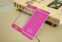 Metal Tempered Glass Screen Protector for iPhone 6Plus with assorted color