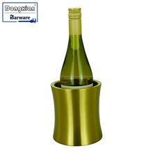 Copper Stainless Steel Double Walled Wine Bottle Cooler Holder