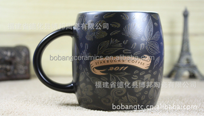 hot sale eco-friendly porcelain starbucks bulk barrel cup ceramic coffee mug